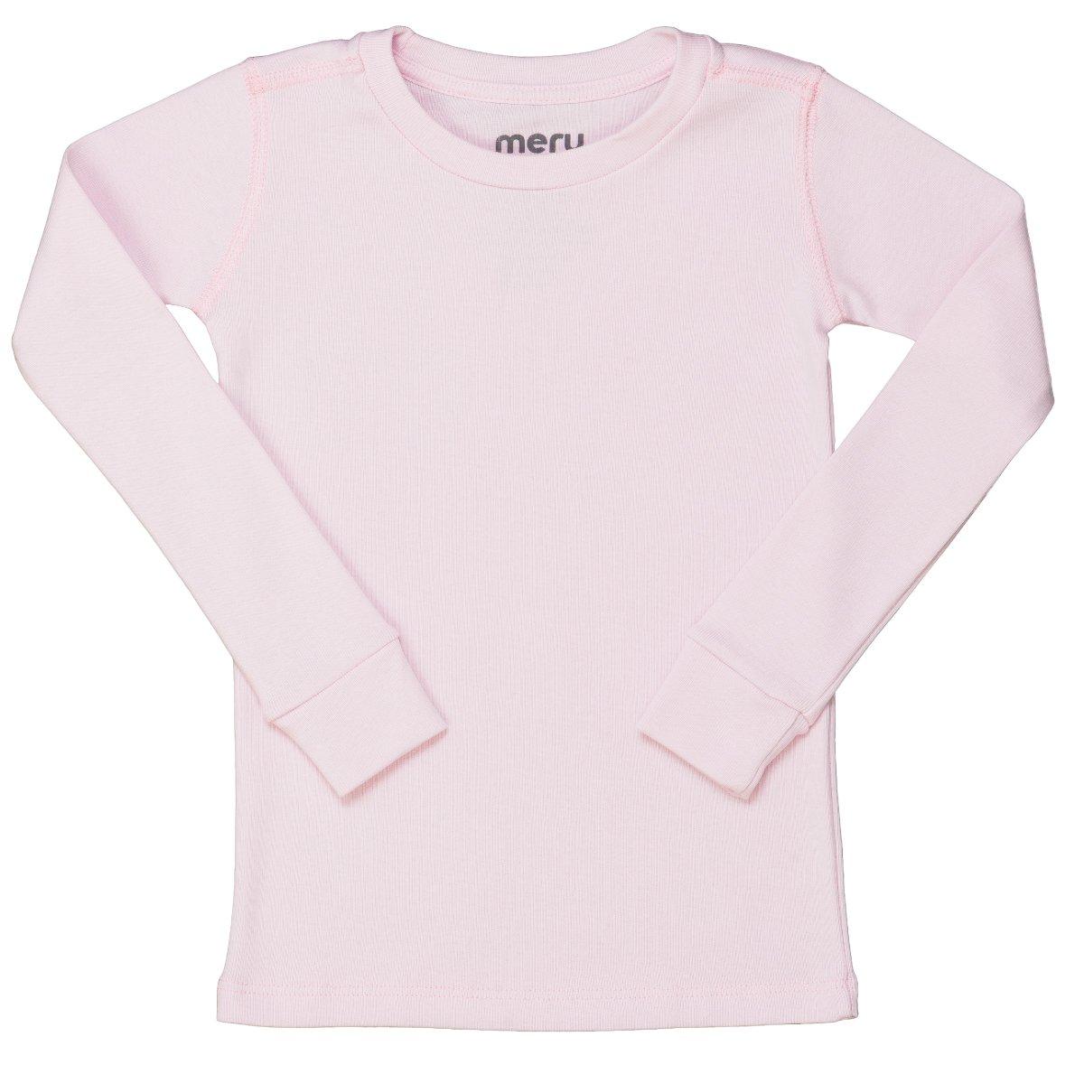 Meru Girls Solid Color Pajama Top