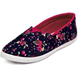 Asian shoes LR-99 Floural Blue Canvas Women Shoes