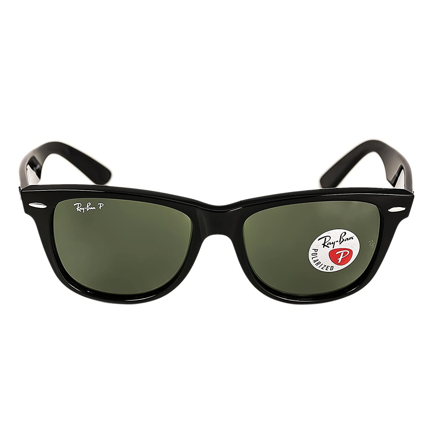 aeaae4dd6957 Amazon.com  Ray-Ban RB 2140 901-58 54 Wayfarer Black Plastic Frame Crystal  Polarized Green Lenses Sunglasses  Shoes