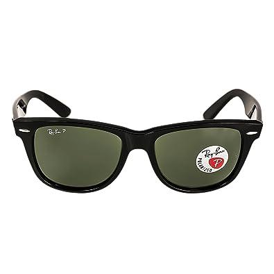 40c51b093c48a Amazon.com  Ray-Ban RB 2140 901-58 54 Wayfarer Black Plastic Frame Crystal Polarized  Green Lenses Sunglasses  Shoes