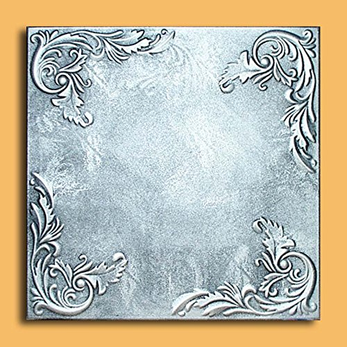 Antique Ceilings Inc - Marseille Silver Black - Styrofoam Ceiling Tile (Package of 10 Tiles)