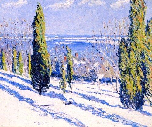 - Allen Tucker Fir Tree Shadows on a Snowy Bank - 20.05