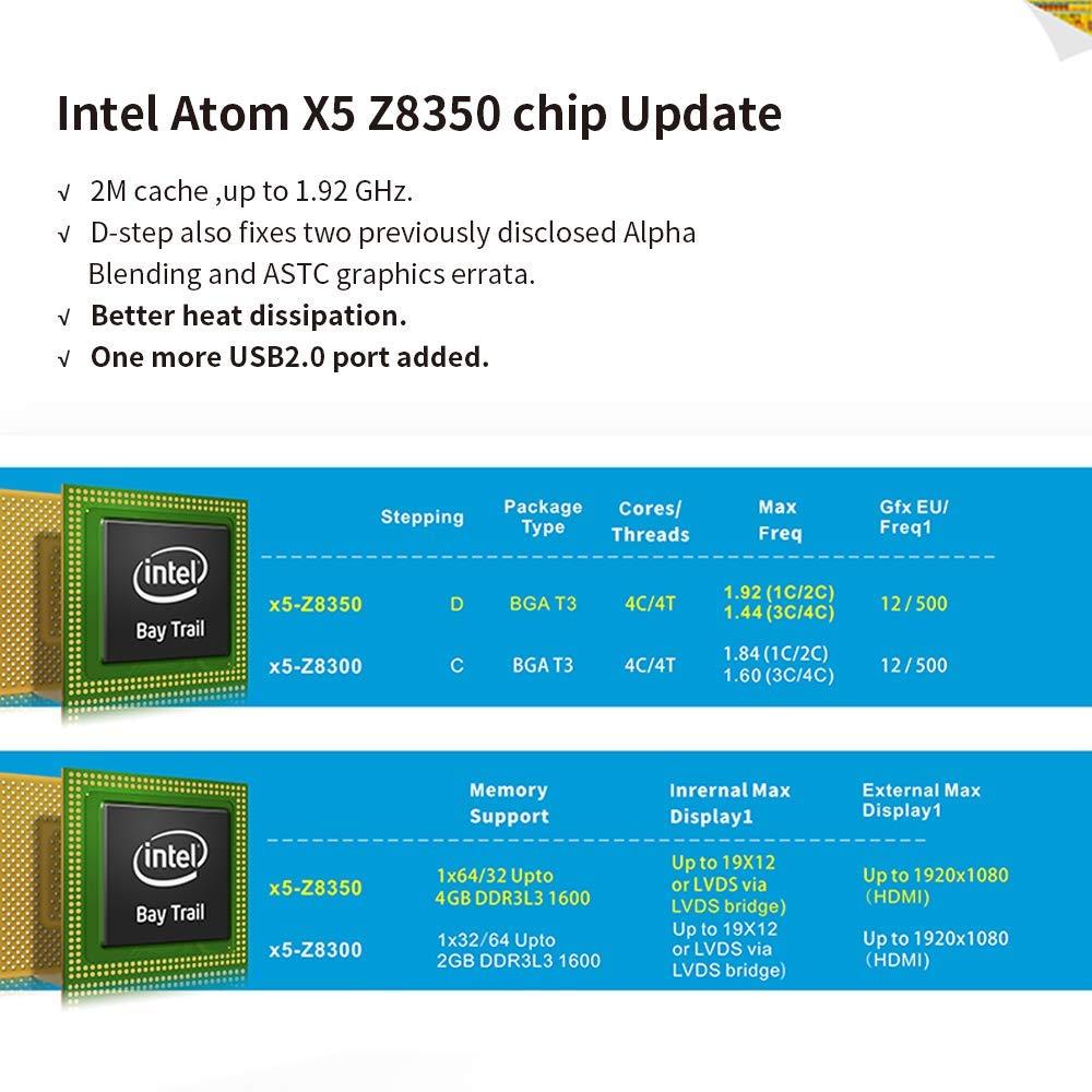 4K //HDMI VGA Doppio Display Windows 10 Mini PC Beelink BT4 Mini PC Intel Atom x5-Z8500 Processore DDR3 da 4GB//64GB 3D EMMC//Dual Band WiFi//Intel HD Graphics