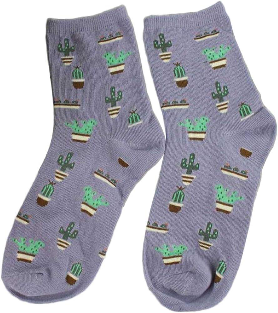 in cotone Calze invernali lavorate a maglia LQZ da donna avocado