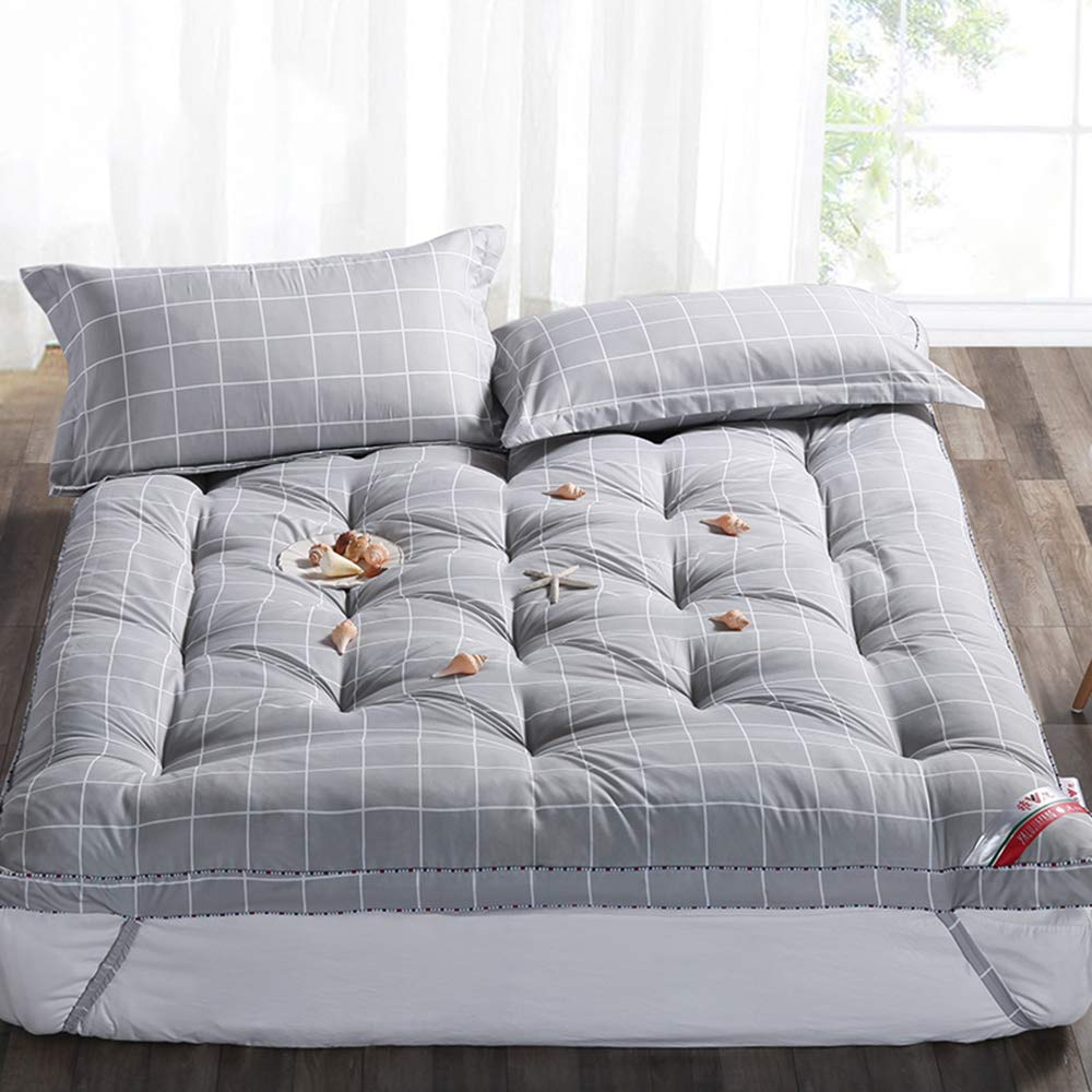 Love Home Tatami Matratzenauflage, Matratze, extra Plüsch, japanische Vierjahreszeiten, atmungsaktiv, Studenten-Schlafmatratze, Schlafmatte, Schaumstoff, grau, 120x200cm(47x79inch)
