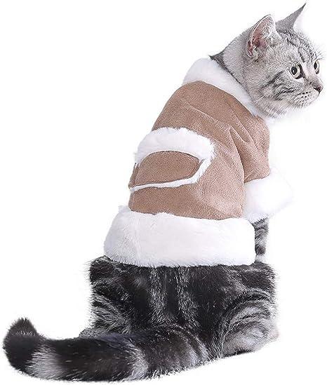 Junebao Gatos Traje Mascotas Ropa Cat Chaquetas Cálido Moda ...