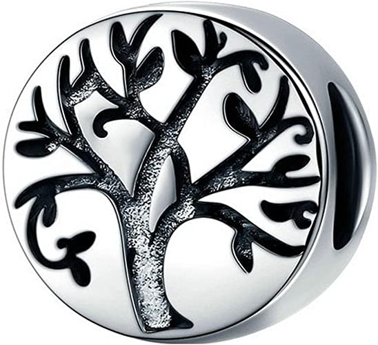 EverReena Tree of Life Charm Beads Silver Beads Bracelets