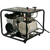 HPDAVV 110 V Sistema de Buceo sin Aceite Hookah con Manguera y respirador, Tanque de Gas, respiración Directa, Dos Salidas de…