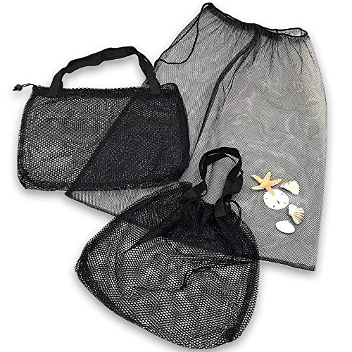 - Beach Tote - Gym Bag - Set of 3 with 2 Sizes - Mesh Urban Design for Multi Use
