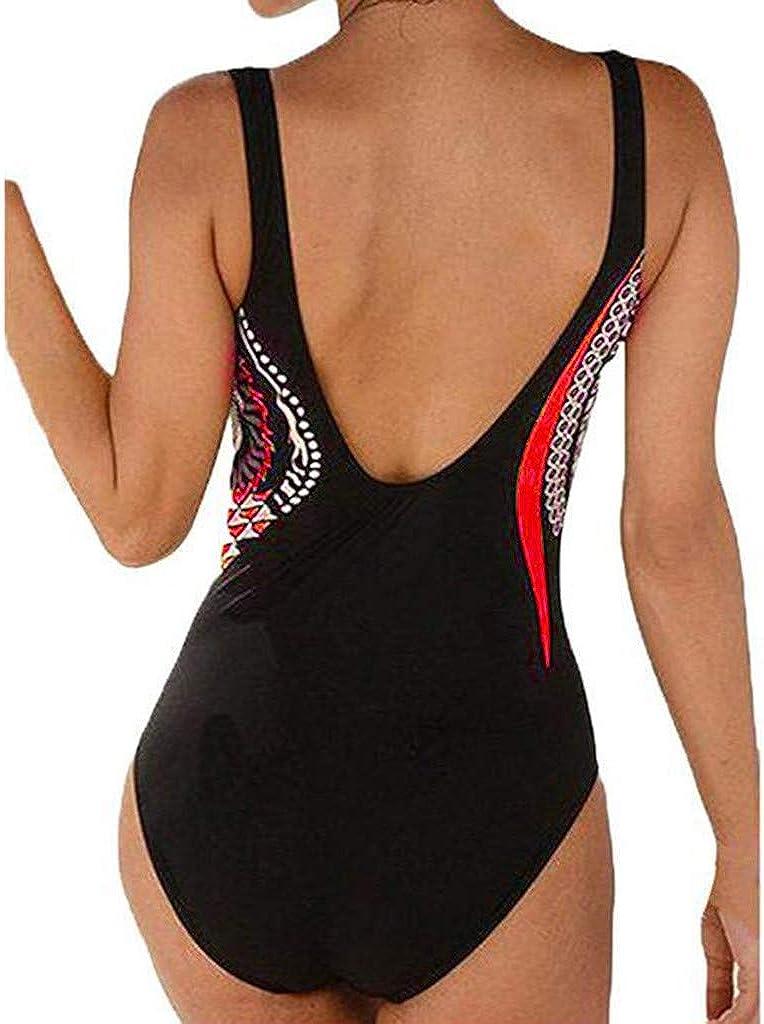 Meikosks Women One Piece Retro Swimsuit Ruched V-Neck Tummy Control Swimwear Printed Bathing Suits