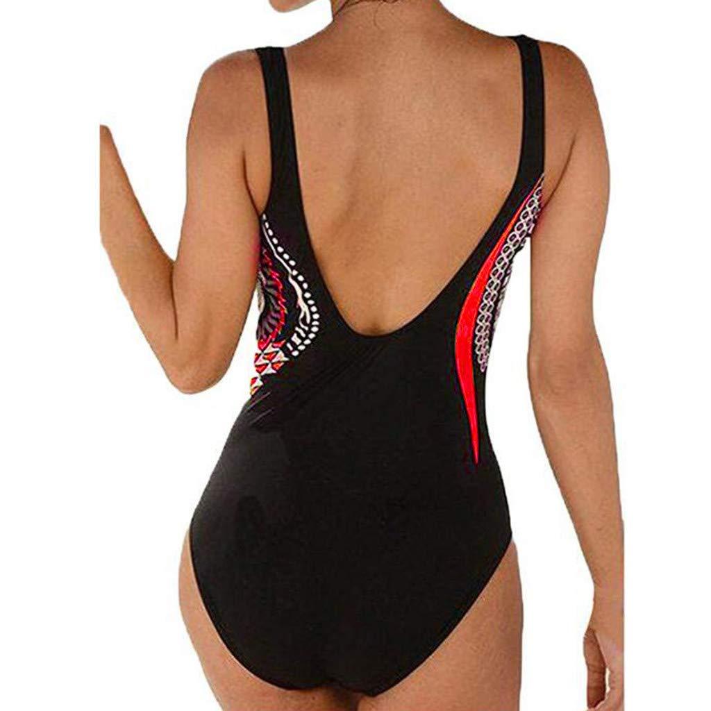 NPRADLA Tendenza per Il Tempo Libero Estate Donna Costumi da Bagno Backless Print Costumi da Bagno Costume da Bagno Bikini Siamese Sconto Primavera Estate