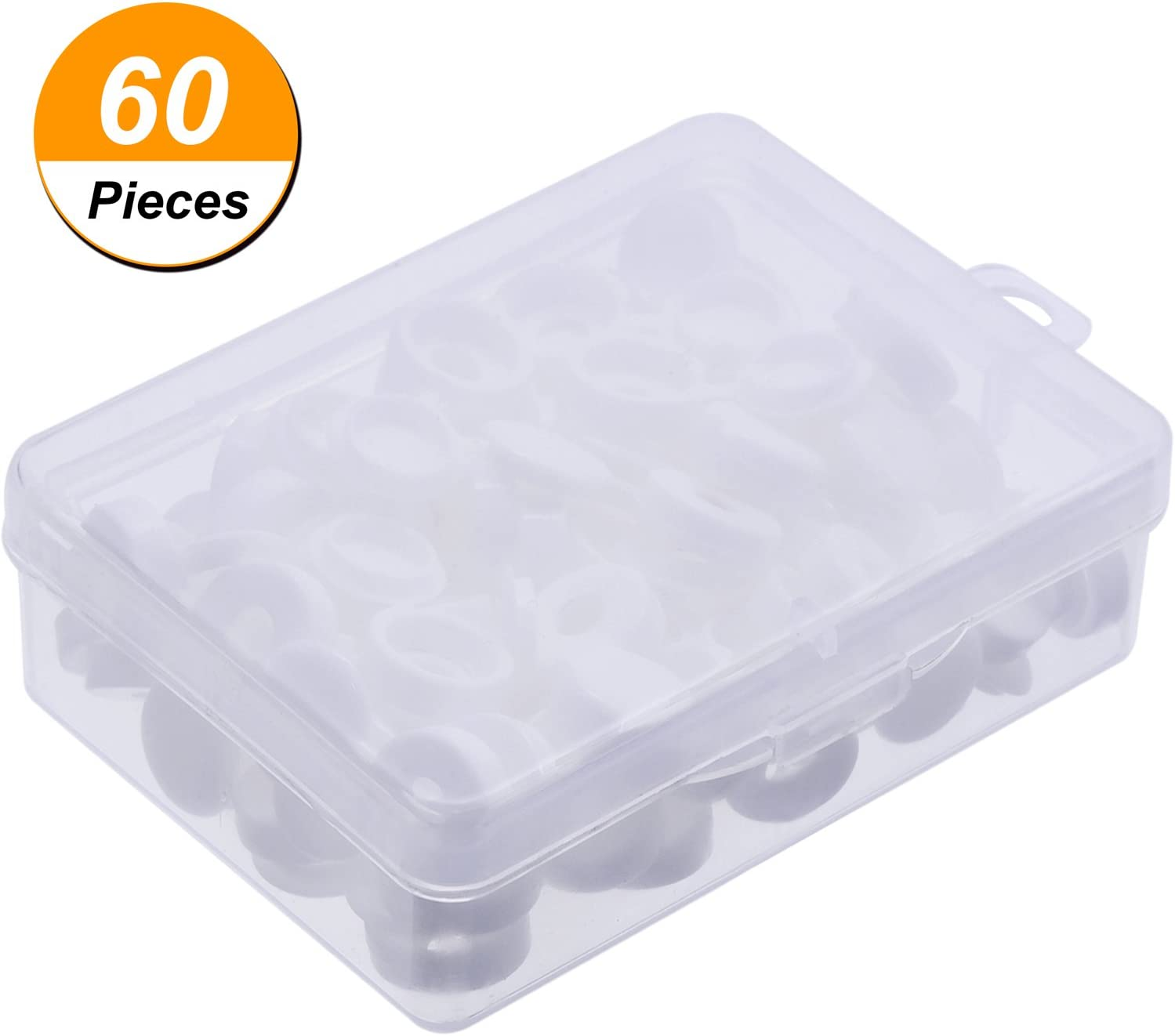 Terrazas y Paredes 200 Piezas Cubierta de Tornillo de Pl/ástico Blanco y Negro Agujero 4 mm Tapa de Tornillo para Sus Muebles