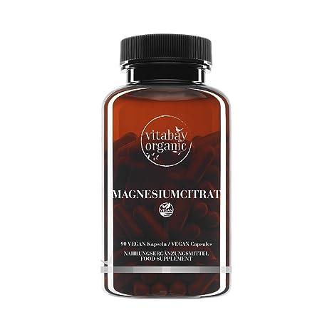 Citrato de magnesio - 90 cápsulas veganas - puramente natural y ...