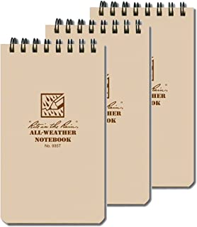 """product image for Rite In The Rain All Weather Tactical Pocket Notebooks, 3"""" L x 3"""" W x 5"""" H, Tan, 3 Count"""