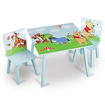 Lätt Winnie the Pooh - 1 mesa y 2 sillas - Mesa infantil - Niños ...