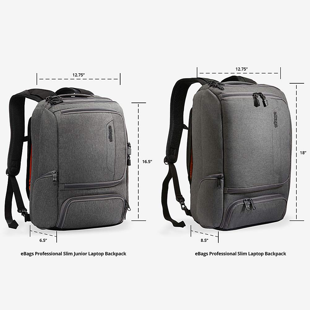 School /& Business Fits 17 Inch Laptop eBags Professional Slim Laptop Backpack for Travel Anti-Theft - Sage Green