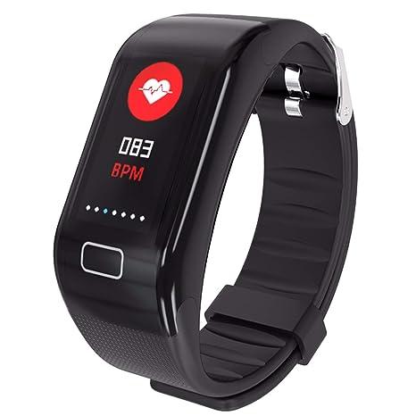 WMWMY Los Hombres Y Mujeres del Deporte Inteligente Impermeable Pulsera Reloj Bluetooth Frecuencia Cardiaca Presión Arterial
