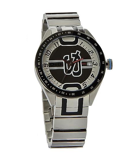 D&G Dolce&Gabbana D&G Shuffled - Reloj analógico unisex de cuarzo con correa de acero inoxidable plateada