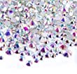 Zealer 2mm - 6mm Resin Crystal AB Round Nail Art Mixed Flat Backs Rhinestones Gems, M1 - 30, Mix Size, 450 Piece