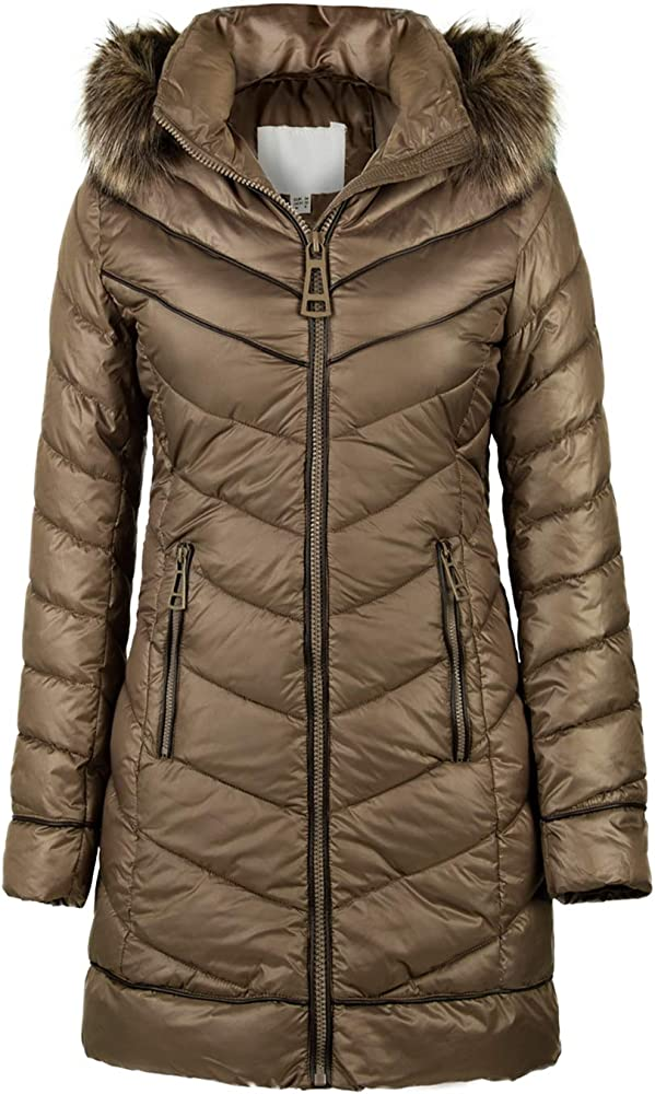 2019 Women's Puffer Jacket,The Lightweight Padding Coat with Hood Fur Collar Warmth Winter Outerwear