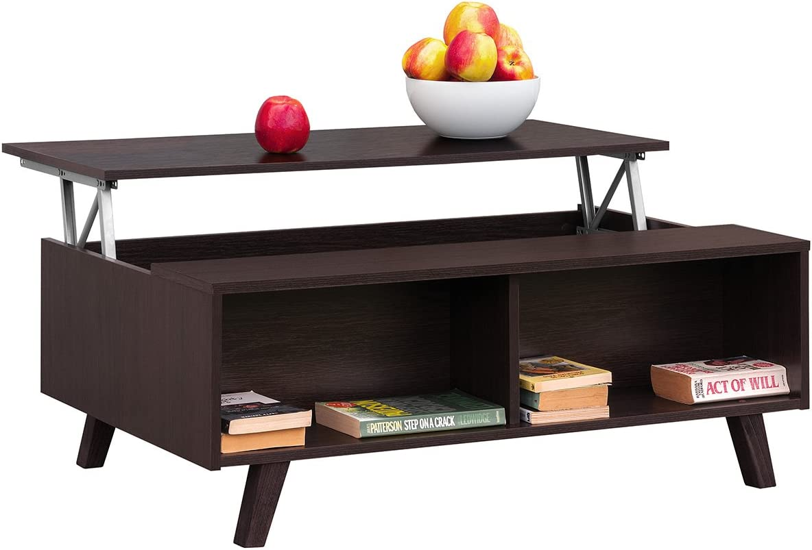 Winkel Comfort, moderne, in hoogte verstelbare salontafel, tafel voor cafés, eettafel of voor de woonkamer, afmetingen: 100 x 65,6 x 38,1/48 modern Weinig Weinig HSvJGlQ