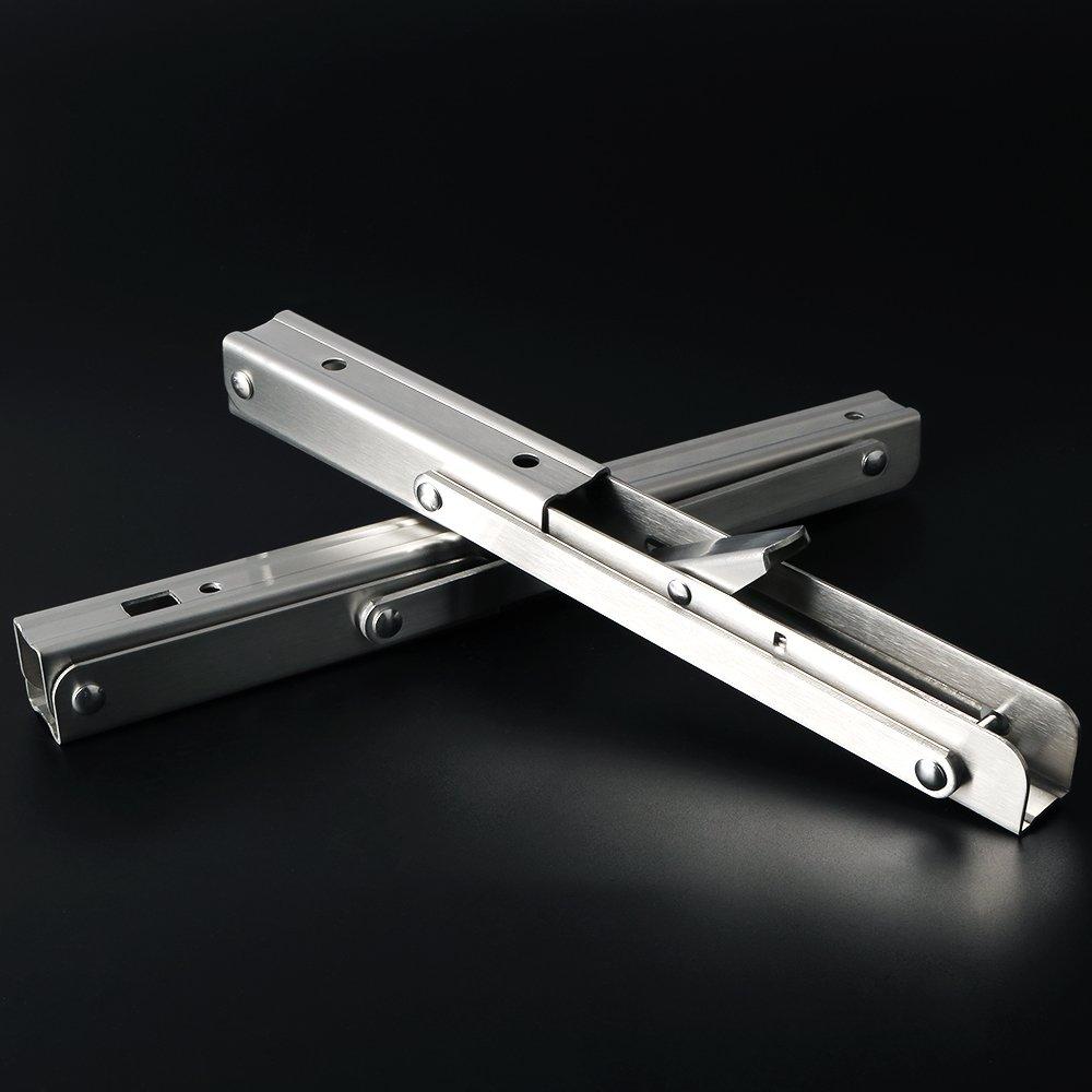 Alise 2 Pcs 10-Inch Stainless Steel Folding Shelf Bracket Heavy Duty Brackets Support Wall Hanging,Brushed Nickel