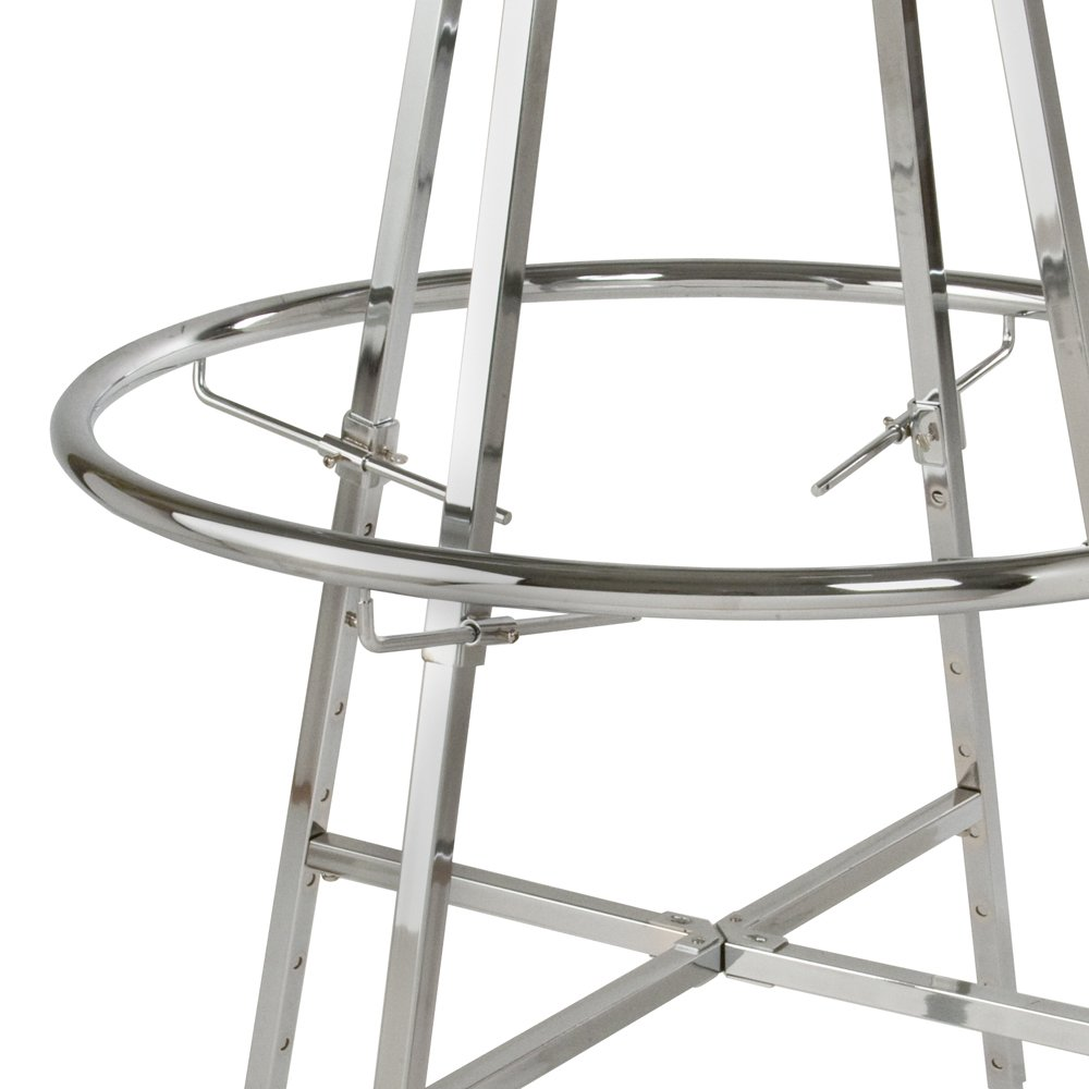 Econoco Set of 4 Adjustable Clamps for Double Hanging Round Racks (Pack of 5)