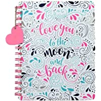 Doodle Head Over Heels Diary Notebook - 80 GSM, Wiro Bound Diary, 192 Single Ruled Pages (Multicolor)