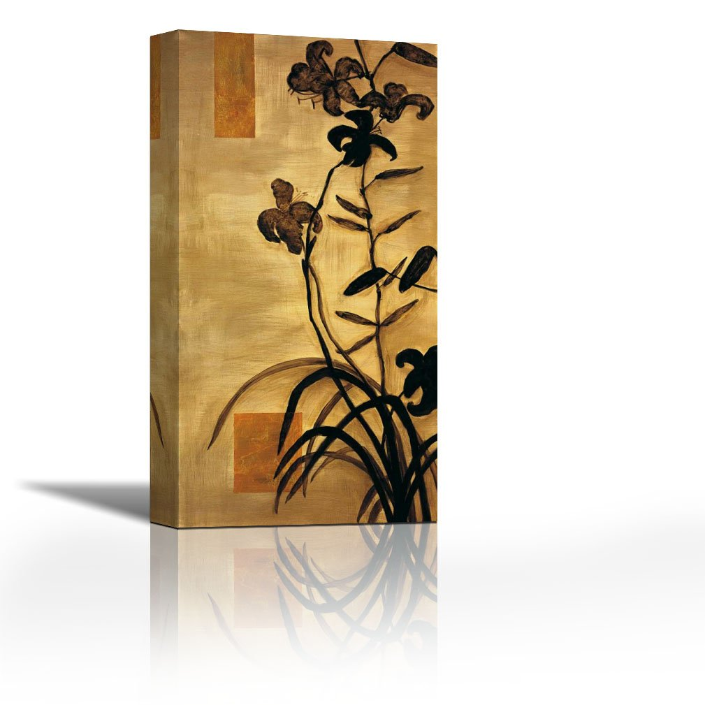 Canvasartcenter Lily Silhouette Ii Fine Art Print On Canvas Home Décor Paintings For Living Room Paintings For Bedroom Gallery Wrap Style 12 X 25 Inch Amazon In Home Kitchen