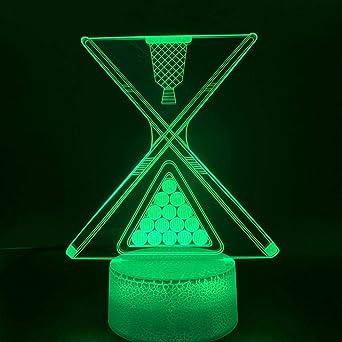 Yjlmt 3D Night Light Led 7 Color Change Touch Mood Lamp Regalo De ...
