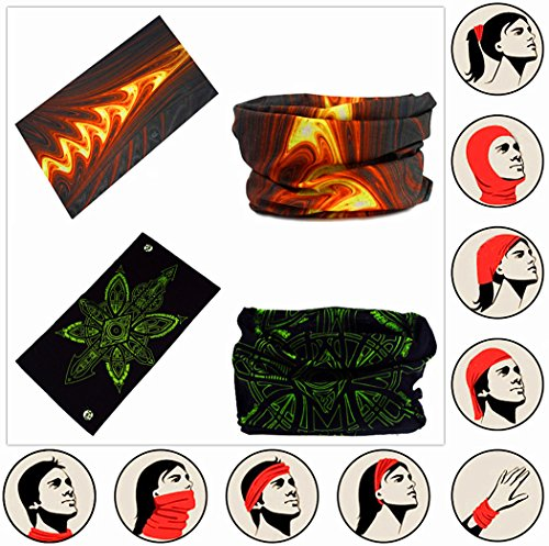 d002cf5e7e9 VANCROWN Headwear Head Wrap Sport Headband Sweatband 220 Patterns Magic  Scarf 12PCS   6PCS 12 in