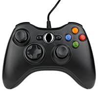 Kycola Xbox 360 Wired Controller SL11 Wired PC controller USB Gamepad For Xbox 360/PC(Deep Black)