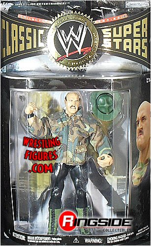 WWE Wrestling Classic Superstars Series 27 Action Figure Sgt. Slaughter with Army Jacket