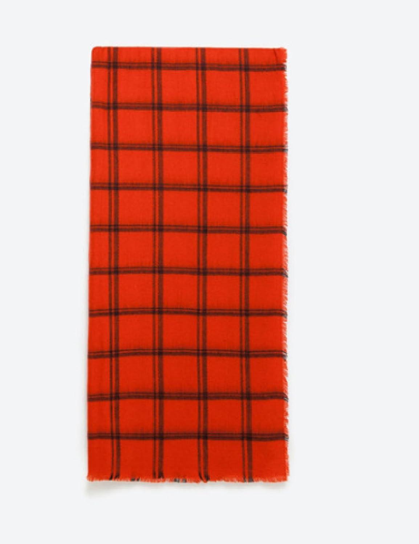 ZHANGYUQI Moda Otoño E Invierno Bufanda De Cedro Suave Rayado Rojo Y Negro Bufanda De Cachemira Imit...