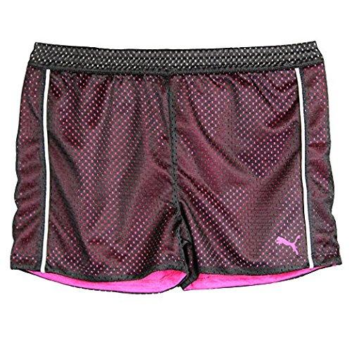 Puma Big-Girls Mesh Athletic Breathable Tech Active Yoga Gym Playground Shorts Black