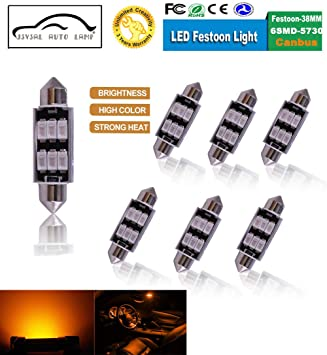 39mm CANBUS ERROR FREE 12 SMD LED 6000K FESTOON BULB C10W C5W ZENON WHITE
