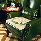 Single sofa seat cushioning Thicken Luxurious European style [winter] Keep warm Square indoor chair pads-A 60x60cm(24x24inch)