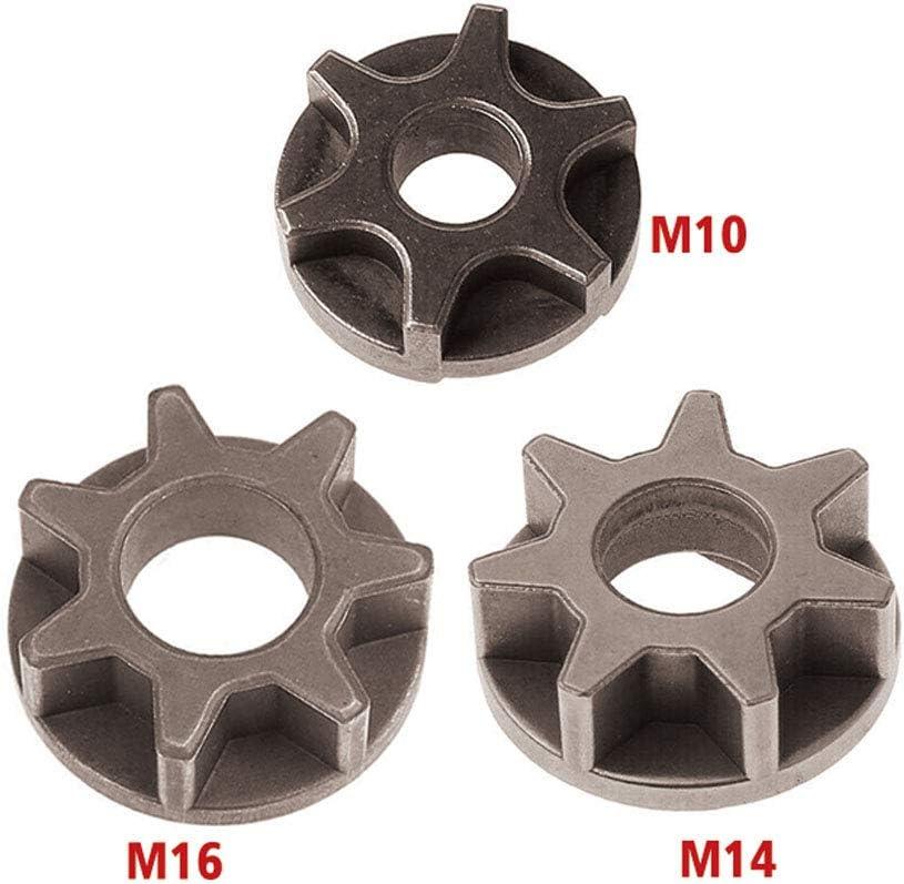 Engrenage de tron/çonneuse M10 M14 M16 100//115//125//150//180 pignon de remplacement pour meuleuse dangle pour support de scie /à cha/îne accessoires doutils /électriques