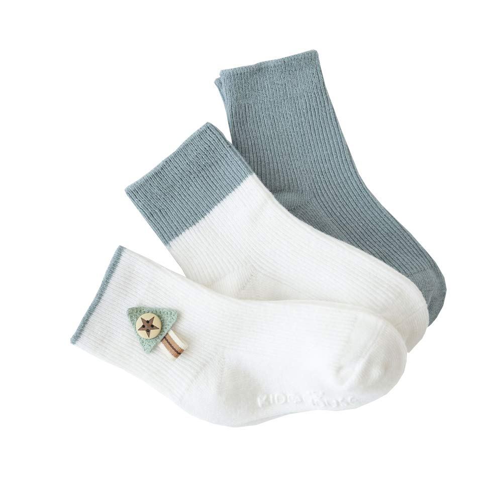 ESA Supplies Baby Socks White Solid Color For Boys and Girls 0-6 Months 6-12 Months 1-3 Years Set of 3 Pack