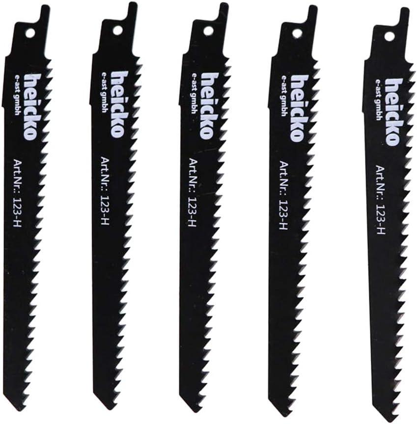 Yintiod Lot de 5 lames de scie sabre HCS pour coupe bois 15,2 cm