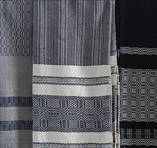 Hand Woven Natural Throw   Aztec Throw Blanket   Navajo Picnic Blanket   Black White Tribal Southwestern Sofa Couch Throw Wrap   College Student Gift