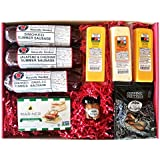 WISCONSIN'S BEST and WISCONSIN CHEESE COMPANY - ULTIMATE Gift Basket - features Smoked Summer Sausages, 100% Wisconsin Cheeses, Crackers, Pretzels and Mustard - Awesome Gift