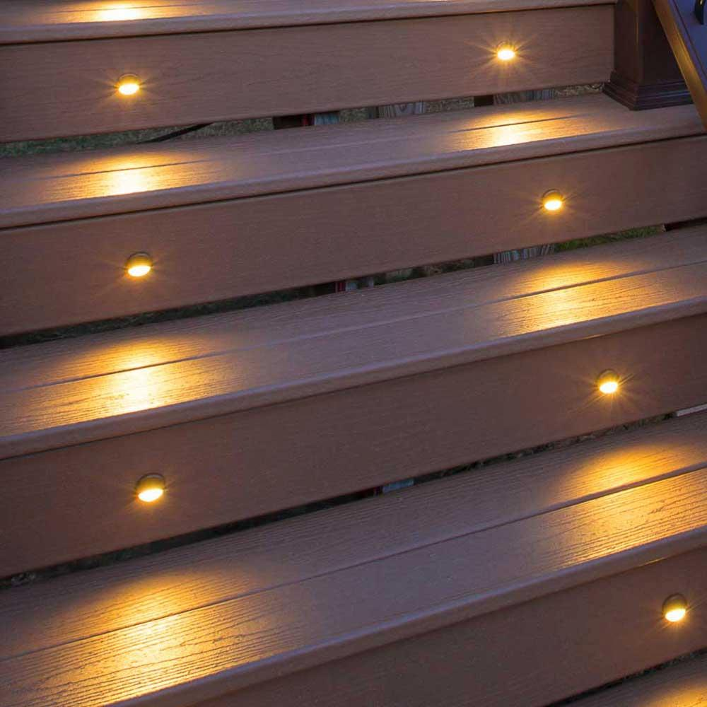 led stair light bronze 4 pack bzriserled4pkc home improvement. Black Bedroom Furniture Sets. Home Design Ideas