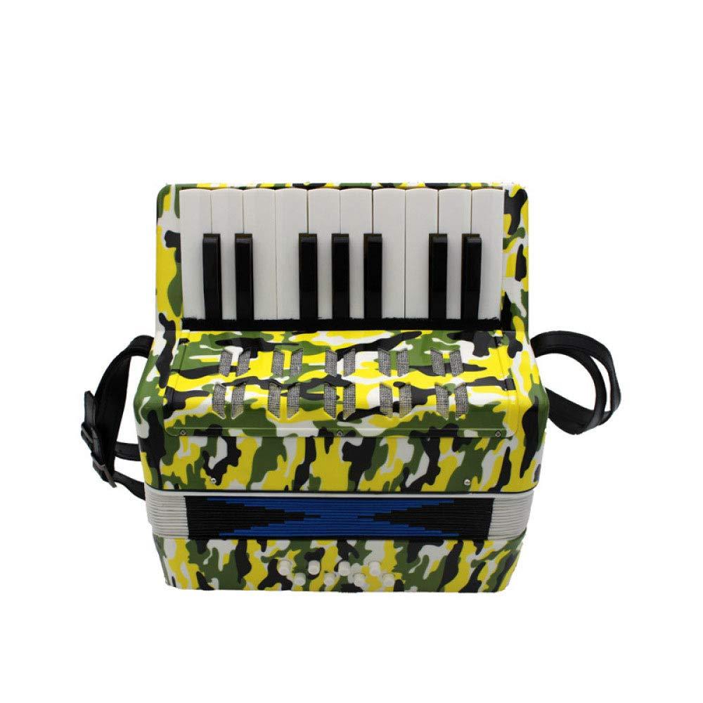 Mzl Akkordeon Kinder 17 Tasten 8 Bass Primer Praxis Akkordeon Tasteninstrumente (6-14 jährige Kind Geschenk)