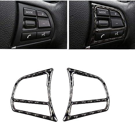Amazon.com: Tapa para volante, interior de fibra de carbono ...