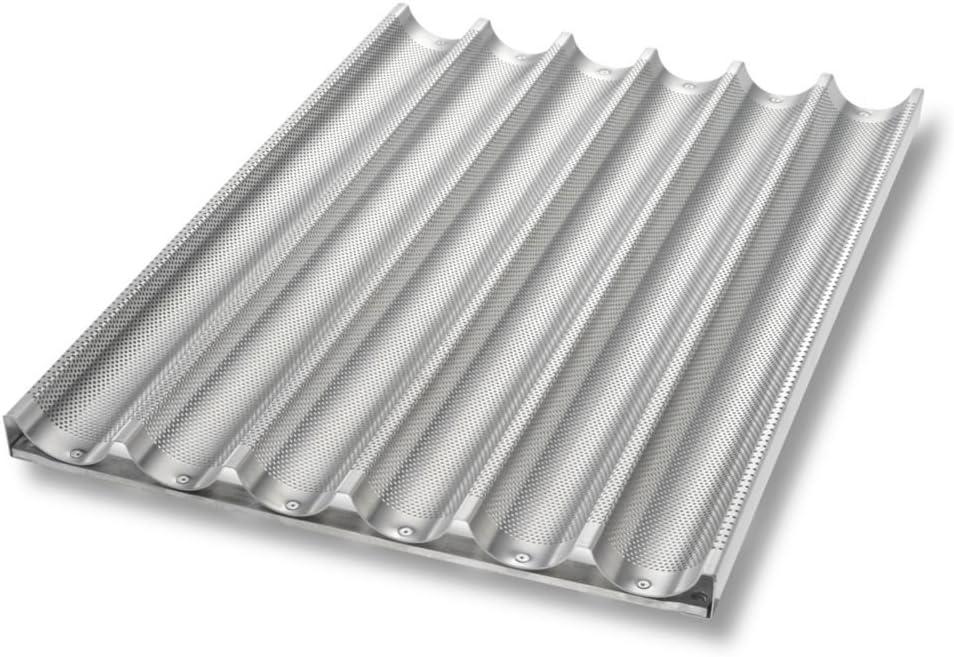 Chicago Metallic Uni-Lock Perf. Aluminum 6-Mold Baguette Pan