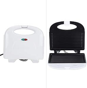 Omabeta Multifunction Electric Mini Sandwich Bread Maker Sandwich Toaster Bread Maker Grill Panini Breakfast Machine Baking Pan US Plug 110V Kitchen Accessory