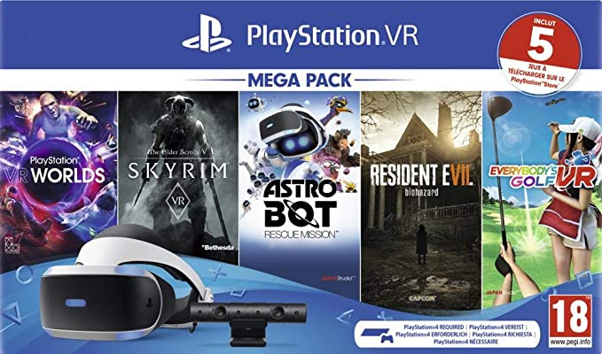 Sony PlayStation VR Mega Pack, Avec Casque PS VR + PS Camera + 5 ...