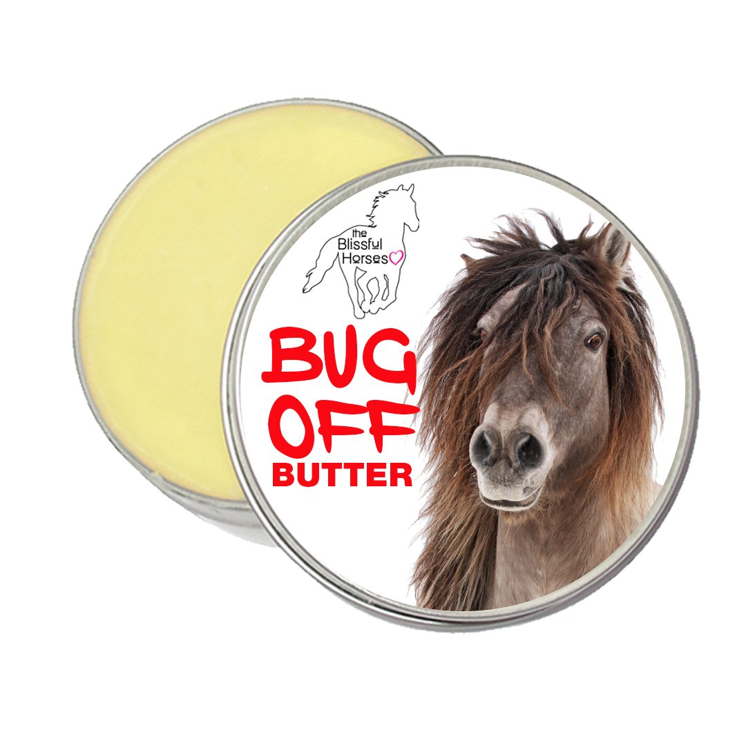 The Blissful Horses Bug Off Butter All Natural Bug Deterrent for Your Horse, 8-Ounce