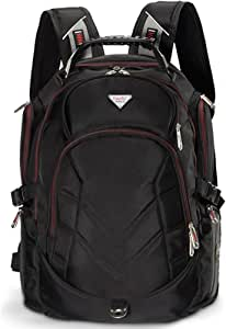 Laptop Backpack, 19 Inch FreeBiz Travel Bag Knapsack Rucksack Backpacks Hiking Bags Students School Shoulder Backpack Fits up to 19.5 Inch Dell, Asus, Msi Gaming Laptops Macbook Computer (Black)
